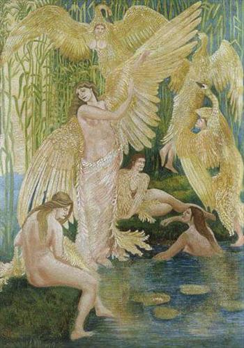Painting by Walter Crane Victorian Artist