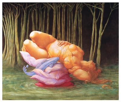 Painting by Italian artist Patrizia Comand