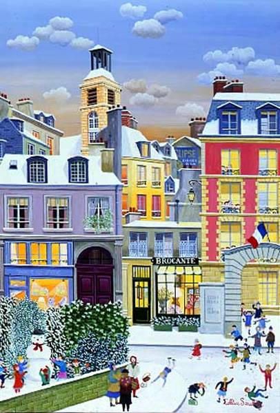 Oil Paintings by  Cellia Saubry French Naive Artist