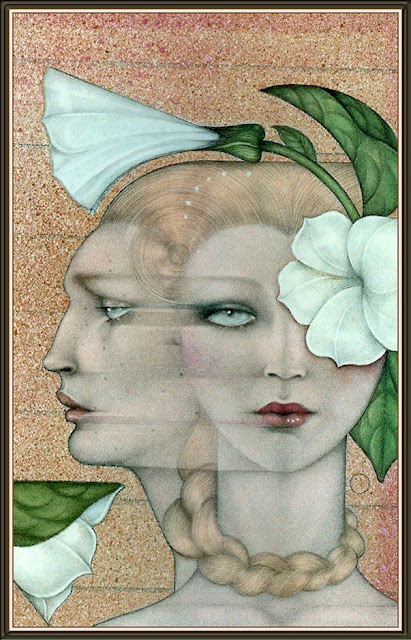 art deco style painting by Mel Odom American Artist