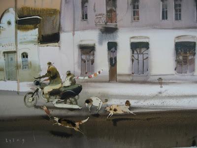 Watercolor Paintings by Alex Votsmush Russian artist