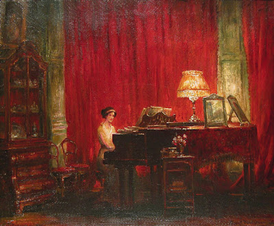 Painting by Frank Beresford The Rose Room