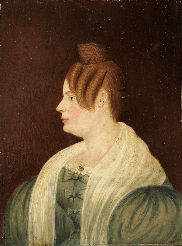 Unknown Artists. American School Portrait of a Woman in Profile, c 1840