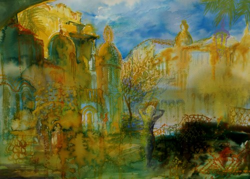 Ivan Dodov, Contemporary Bulgarian Artist, watercolor landscapes