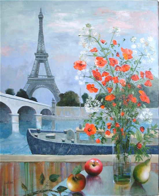 Maurille Prevost. French painter, french artist of 20th century, La Tour Eiffel