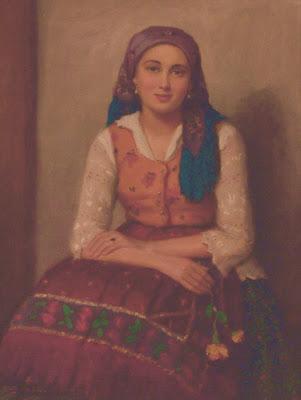 Janos Laszlo Aldor. Woman with Flowers