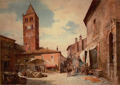 Ettore Roesler Franz. Piazza Tani, Tivoli