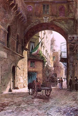 Ettore Roesler Franz. Arch of San Marco in Rome