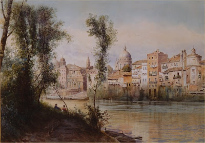 Ettore Roesler Franz. Il Porto Ripetta dai Prati di Castello