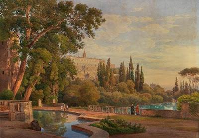 Ettore Roesler Franz's Watercolor. Villa d'Este