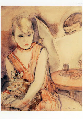 Jeanne Mammen. Lady with a Cat