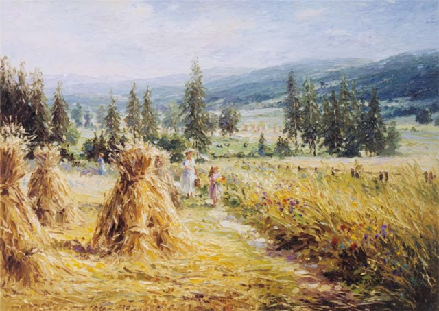 Barbara Jaskiewicz-Socewicz, Lasowka Village, 2005, Summer Themed Oil Paintings