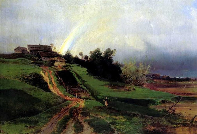 Summer Themed Oil Paintings, Aleksei Savrasov. Rainbow