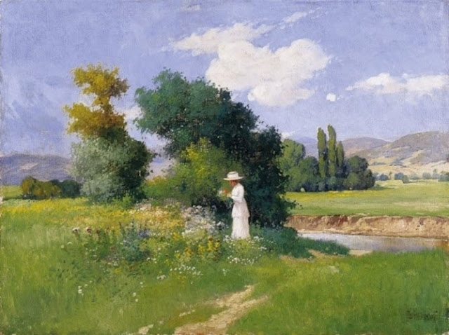 canvas painting,summer landscape,oil painting,landscape oil painting,painting of women,garden painting,Gyula Zorkoczy