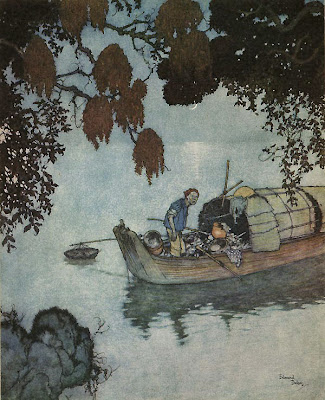 The Nightingale Illustrations by Edmund Dulac