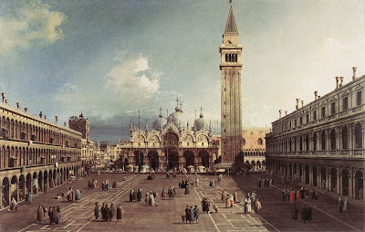 Canaletto. Piazza San Marco with the Basilica. Oil Paintings
