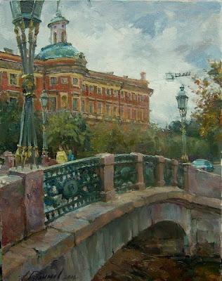 Oil Painting of Saint Petersburg