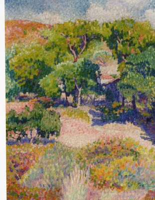 Henri Edmond Cross. Cypresses, 1904