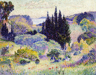 Henri Edmond Cross. Cypress, April, 1904