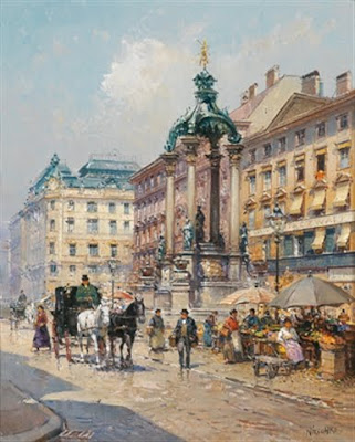 Detlev Nitschke. Watercolor. Vienna. High Market