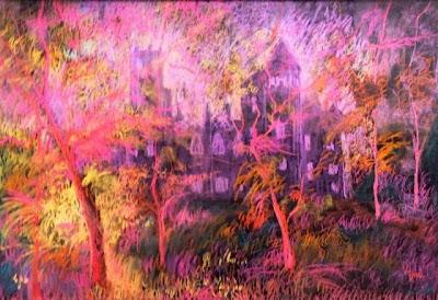 Demeter Gui. Castle Garden in Nagykároly pastel