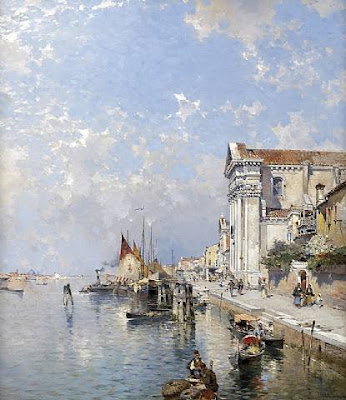 Franz Richard Unterberger. The Zatteri, Venice