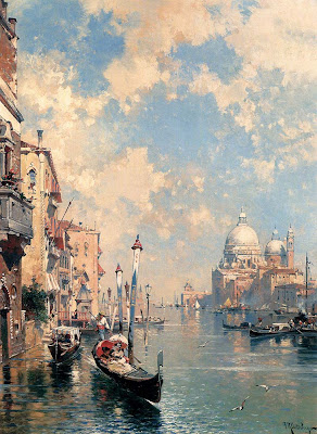 Franz Richard Unterberger. The Grand Canal Venice