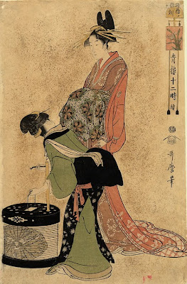 Kitagawa Utamaro. Ukiyo-e. The Courtesan of the Ogiya House and Her Attendant