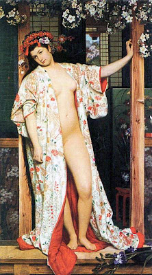 Japonisme. Paintings of Beautiful Women. James Tissot. A Woman in Japan Bath
