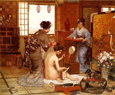Marie-Francois-Firmin Girard. The japanese Toilette