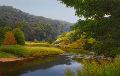 Michael James Smith. Wandering by the River Wye, Wales