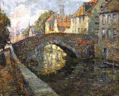 Oil Painting by Charles Verbrugghe, Belgian Artist