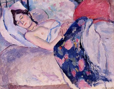 Jules Pascin. Sleeping Woman