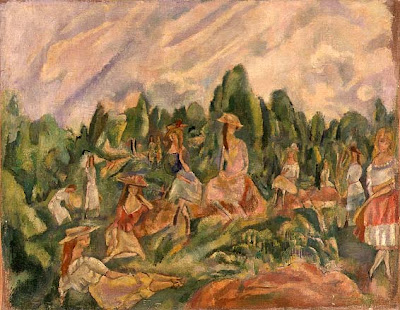Jules Pascin. Young Women in a Landscape, 1920