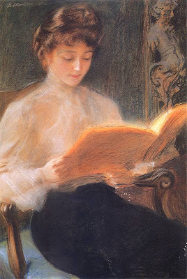 Reading Woman by Teodor Axentowicz