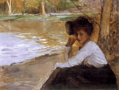 Lady in a Park, 1899 by Teodor Axentowicz