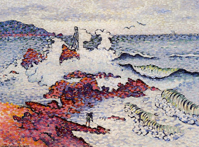 The Mediterranian, East Wind by Henri Edmond Cross