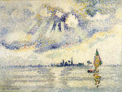 Sunset on the Lagoon, Venice by Henri Edmond Cross