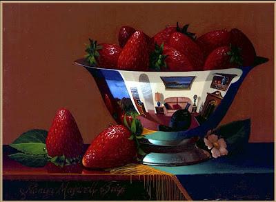 Summer Strawberries. Still Life by Stanley Maxwell Brice