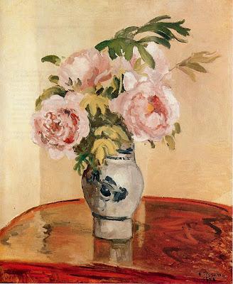 Camille Pisarro. Pink Peonies, 1873