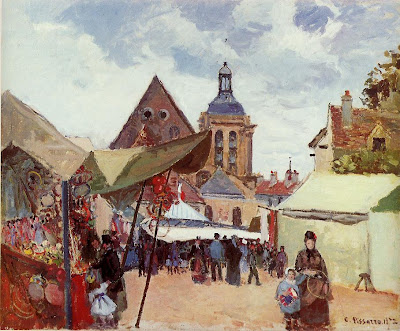 Camille Pisarro. September Celebration, Pontoise, 1872
