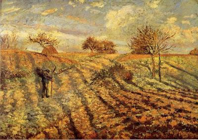 Landscape by Camille Pisarro,  1873