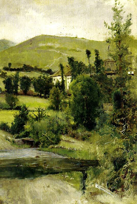 Landscape Painting by Casimiro Sainz y Saiz