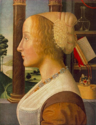 Portraits of  Women of Italian Renaissance. Bastiano Mainardi. POrtrait of a Woman