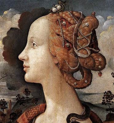 Portraits of  Women of Italian Renaissance. Piero di Cosimo (Simonetta Vespucci)