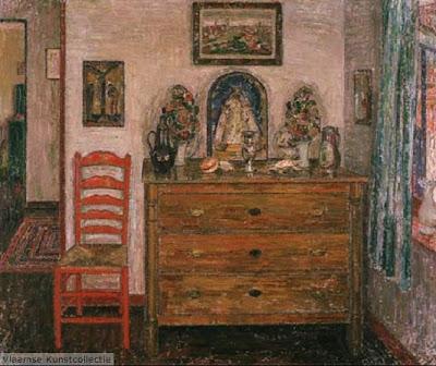 Leon De Smet. Interior with Drawer