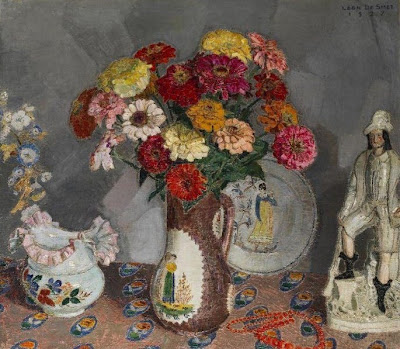 Leon De Smet. Vase with Flowers