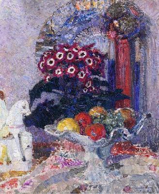 Leon De Smet. Fruit Flowers and Staffordshire