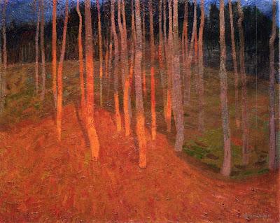 Leon De Smet. Forest at Twilight