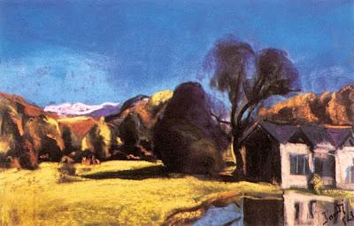 Jándi Dávid, Hungarian Artist. House by the Shore